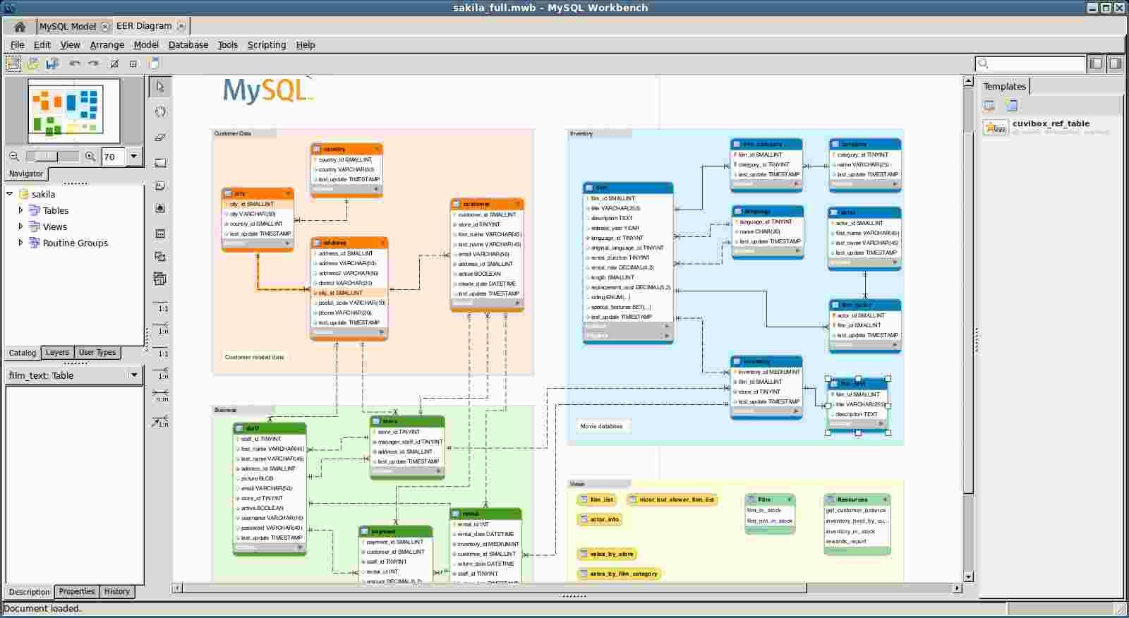 Mysql open source modelling tools proavan sakilafullb mysql workbench001 ccuart Choice Image